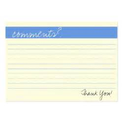 Comment Card Template For Word by Business Comment Card Zazzle