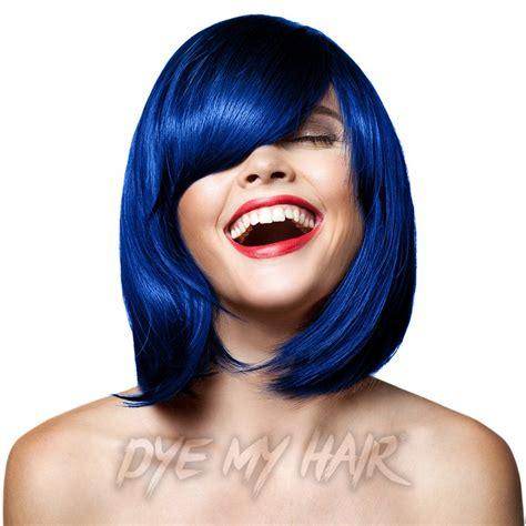 midnight blue hair dye permanent manic panic after midnight semi permanent hair dye blue