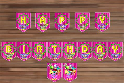shopkins happy birthday banner printable shopkins birthday banner shopkins party magianrainbow