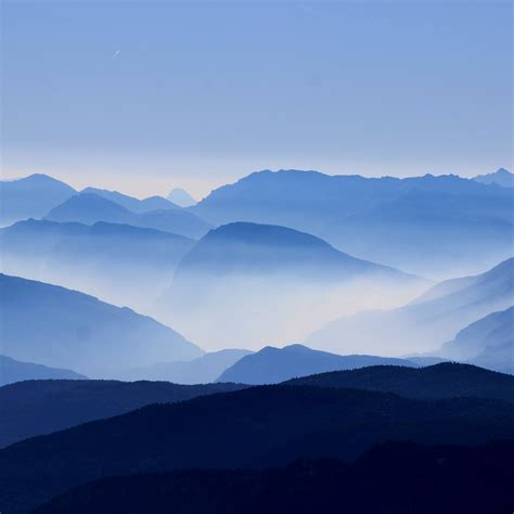 Essay Morning Mountain by Na64 Mountain Layers Sky Blue Fantastic Beautiful Morning Wallpaper
