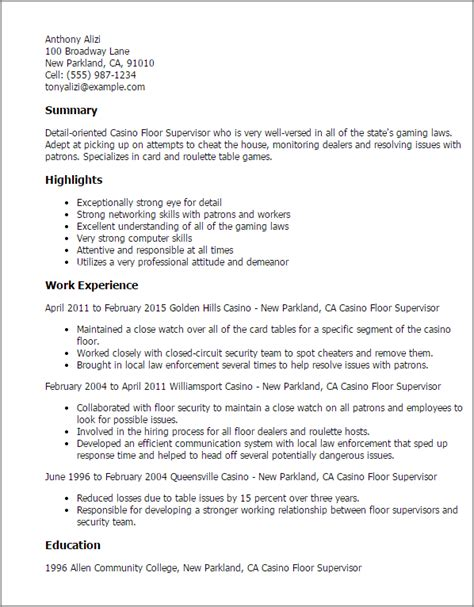 casino host resume sles wording 28 images retail