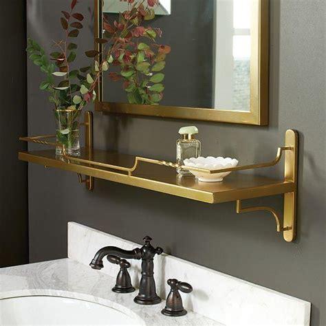 gold bathroom shelf bastille gold wine shelf