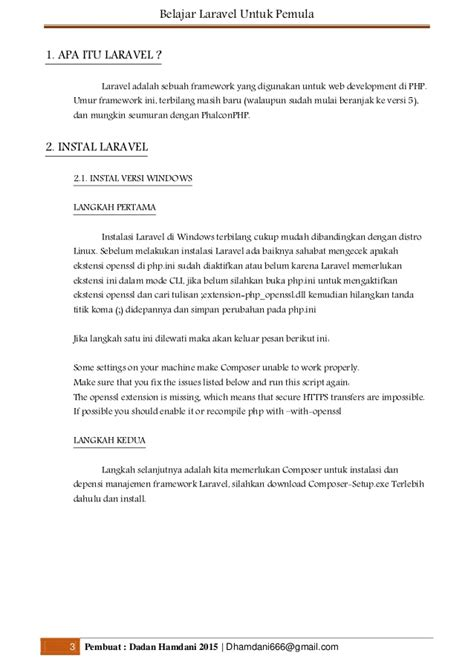 tutorial laravel untuk pemula belajar laravel untuk pemula