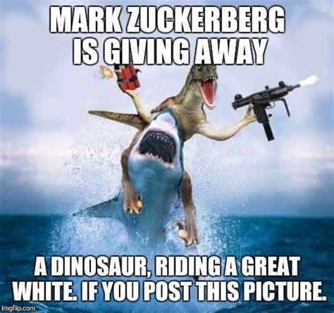 Dino Meme - dinosaur riding shark imgflip