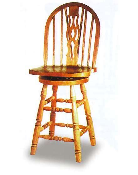 Windsor Slot Barstool   Amish Dining Room Furniture