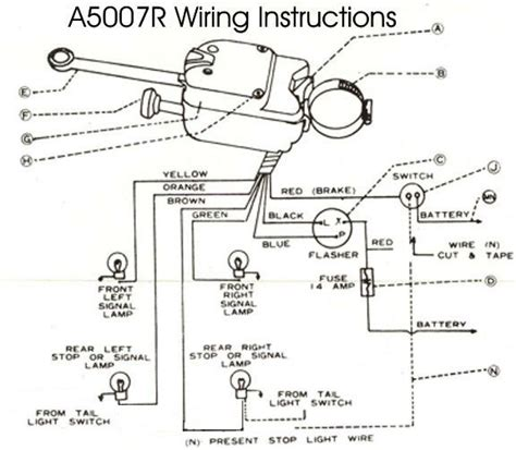 6 wire universal turn signal switch help needed with