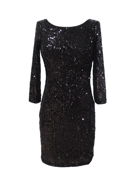 black long sleeve sequin dress black sequin dress dressed up girl