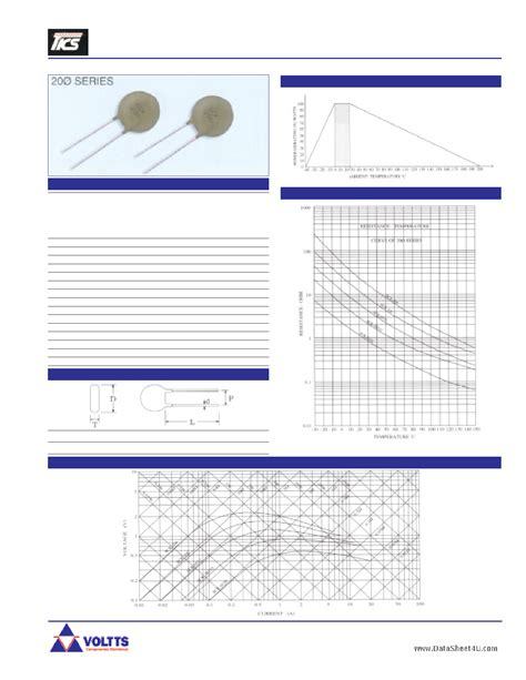 ntc thermistor sck 103 datasheet datasheet sck 103 pdf voltts ntc power thermistor 1 page