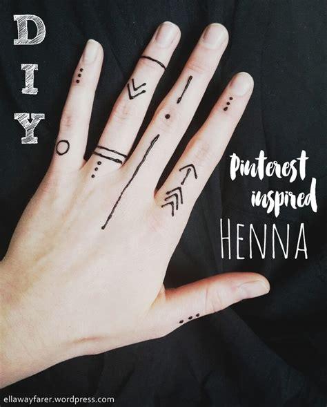diy modern pinterest inspired henna graphic pattern easy    meine diys