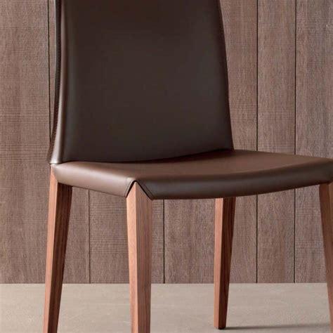 sedie a set 2 sedie moderne per sala da pranzo in cuoio rigenerato