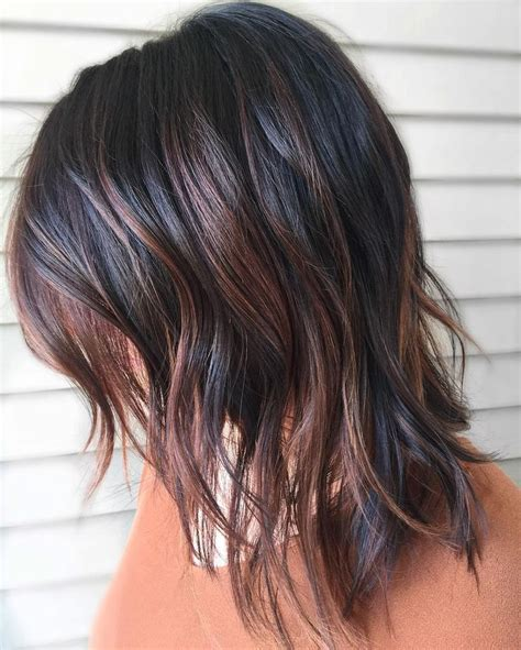 highlight colors for black hair best 25 hair with highlights ideas on