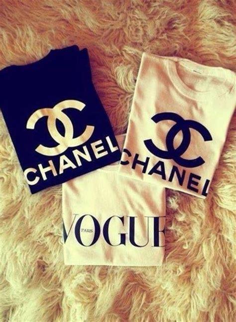 Coco Channel Rainbow Tshirt chanel cc logo american apparel racerback tank top tri