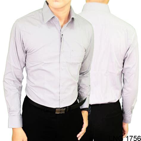 Kemeja Pria Lengan Panjang Kode 575 14 kemeja formal pria lengan panjang reguler fit katun abu muda lng 1756 gudang fashion