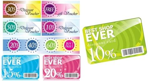 discount card template discount card free vector 13 077 free vector