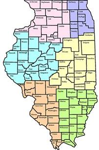 Map Of Illinois Counties by Illinois Map