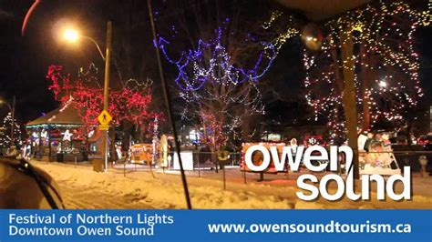 festival of northern lights owen sound ontario youtube