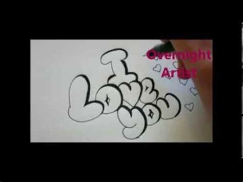 write  love  cool bubble graffiti letters youtube