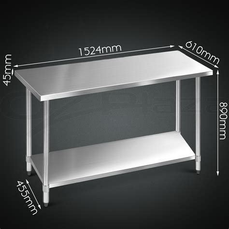 stainless steel work bench tops 1524x610mm commercial 430 stainless steel kitchen work