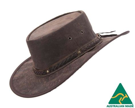 Leather Australia barmah kangaroo leather australian outback hat made in