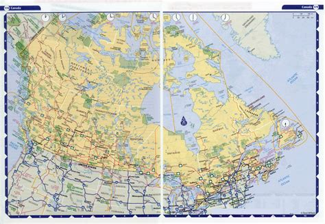 map of us and canada highways canada map detailed