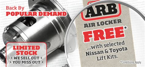 Air Locker Arb Promo free arb air locker promotion snake racing 4x4 accessories suspension kits and 4x4 parts