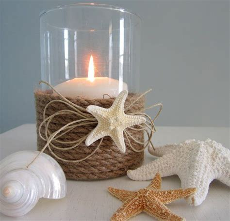 rope candle holders for summer nautical decor candle holder with nautical rope and starfish