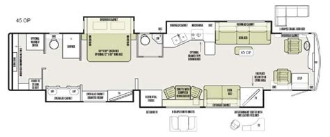 bus motorhome floor plans new 2016 tiffin allegro bus 45 op motor home class a