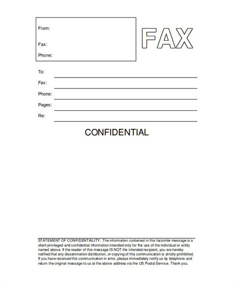 fax form template printable fax cover sheet 10 free word pdf documents