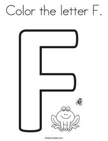 f color color the letter f coloring page twisty noodle