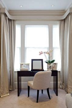 box bay window curtains ideas love the wide roman shade with matching pelmet box it s