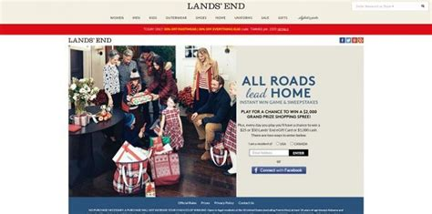 Lands End Holiday Sweepstakes - lands end all roads lead home promotion