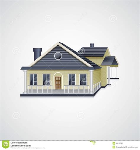 Bungalow House stock vector. Image of bungalow, icon