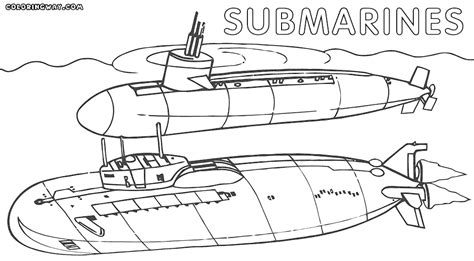 submarine coloring pages to print coloring home