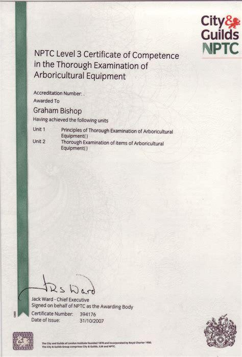 Greenshave Certificate LOLER