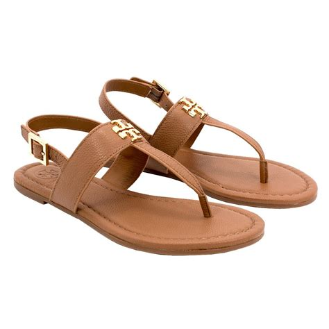 gold sandals on sale burch flat tumbled leather royal gold