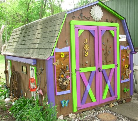 Decorated Garden Sheds by Decorating Garden Shed