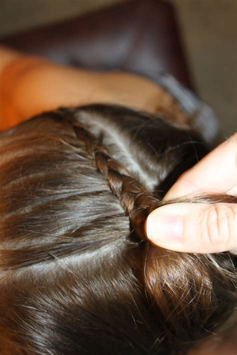 french braid across the top hairstyles for girls the wright hair lauren braid to pony