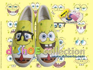 Sepatu Vans Spongebob sepatu lukis dshoe spongebob4 sepatu lukis d shoe