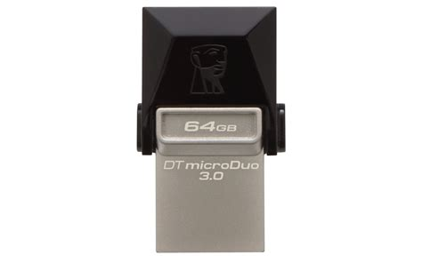 Usb Otg Kingston Dt Microduo 3 0 kingston datatraveler microduo 3 0 otg 64gb silicon pk