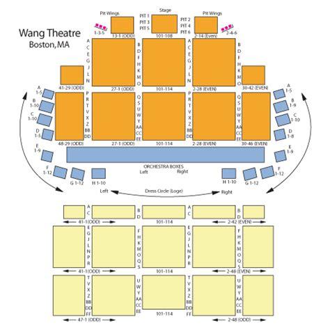 wang theatre boston seating map wang theatre seating chart car interior design