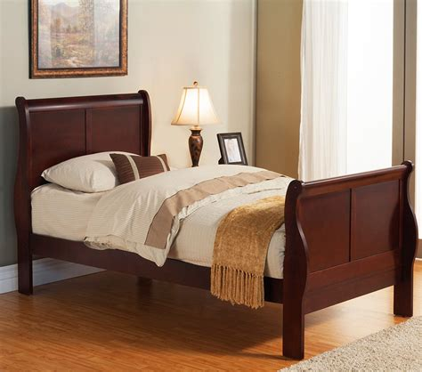 twin size sleigh bed dreamfurniture com louis philippe ii twin size sleigh bed