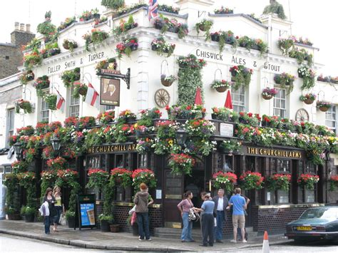 The Churchill Arms London   Nearby hotels, shops and restaurants   LondonTown.com