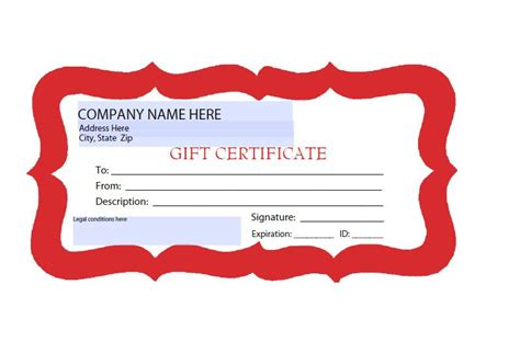 gift certificate template free gift certificates templates download