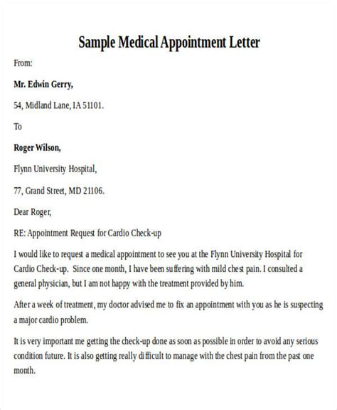 appointment letter request mail formal request letters