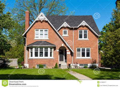 how to brick a house red brick house stock photo image 41282517