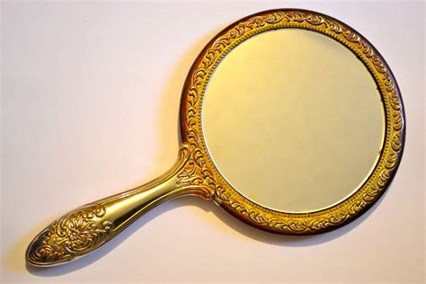 victorian rose hand mirror by storybookartifact on etsy