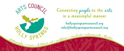 Small Graphic Design Business From Home banner for holly springs arts council the official
