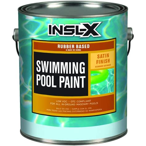 insl x rp 1 gal satin blue swimming pool paint