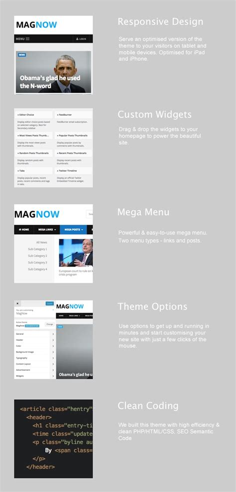 wordpress themes that are customizable magnow fully customizable magazine wordpress theme mojo
