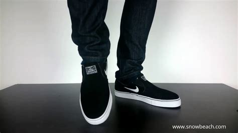 Nike Slip On 3 nike sb stefan janoski slip on black white 833565 001